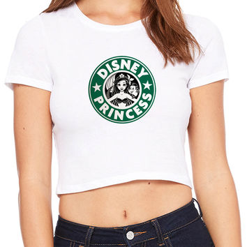 Ariel Mermaid Starbuck Disney Princess Crop T-shirt