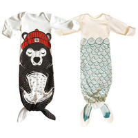 Niuniu Daddy Mermaid Sleepsack Baby cotton Sleeping Bag Animal Shark sleeping blanket