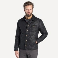 Waxed Quilted Jacket in Jet Black