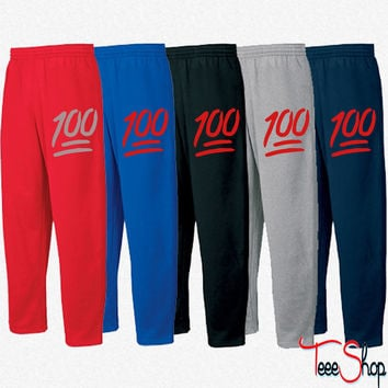 100 emoji Sweatpants