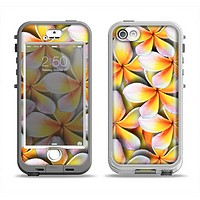 The Vibrant Yellow Flower Pattern Apple iPhone 5-5s LifeProof Nuud Case Skin Set