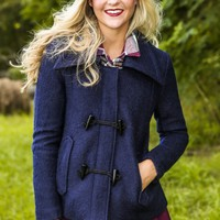 Close to Home Coat-Navy