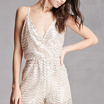 Sequin Surplice Romper