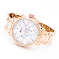 Classic chrono metal watch (3 colors)