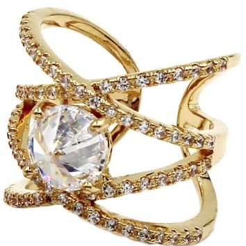 fashion crystal opening ring