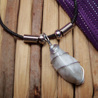 "CALMING ""White Buffalo"" Necklace with Howlite Helps Relieve Stress and Calm Your Mind & Emotions - Wire Wrapped Stone Jewelry"