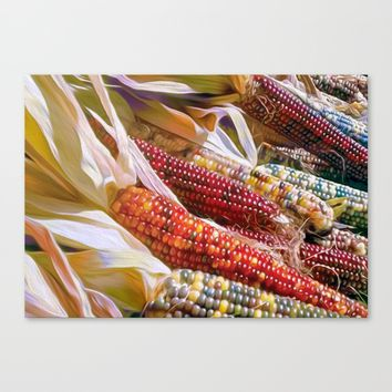 Kernels of Color Canvas Print by Heidi Haakenson