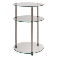 Convenience Concepts 3 Tier Glass Round Table