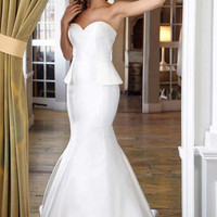 Peplum Wedding Dress JB2633
