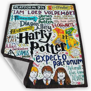 Harry Potter Collage Blanket for Kids Blanket, Fleece Blanket Cute and Awesome Blanket for your bedding, Blanket fleece *