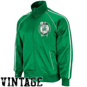 Mitchell & Ness Boston Celtics Kelly Green Final Score Full Zip Track Jacket