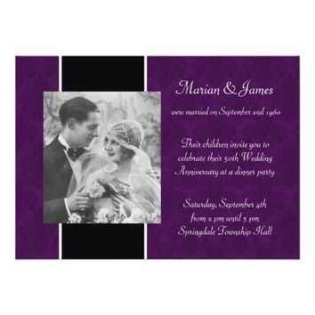 Photo 50th Wedding Anniversary Party Invitation