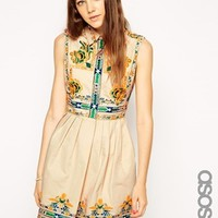 ASOS TALL Skater Dress with Embroidery
