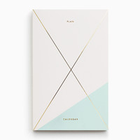 Gold Foil Any-Year Daily Planner - Pastel