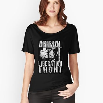 'Animal Liberation Front - Chimpanzee ' Women's Premium T-Shirt by ValentinaHramov