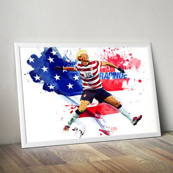 Megan Rapinoe Womens United States Print Poster Megan Rapinoe U.S. women's national team art, wall decor, home decor, football, soccer