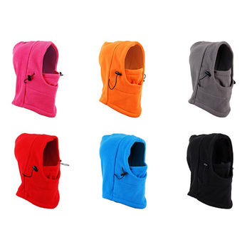 Outdoor Sports Thermal Fleece Balaclava Hood Hat Caps Camping Hiking Hunting Cycling Windproof Full Face Mask Neck Warmer Scarf