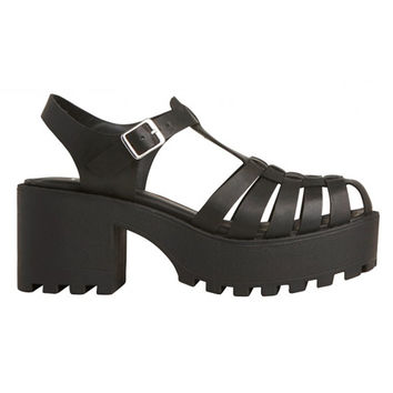 Lipstik Shoes - Darko Sandal - Black