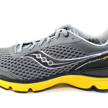 Saucony Men's Grid Shadow Genesis Gray/Yellow Running Shoes