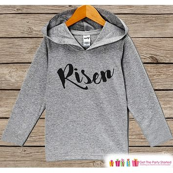 Kids Easter Outfit - Easter Risen Hoodie - Easter Spring Pullover - Baby Boy or Girl Easter Outfit - Kids Religious Christian Toddler Hoodie