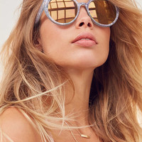 Rounded Cat-Eye Sunglasses | Urban Outfitters
