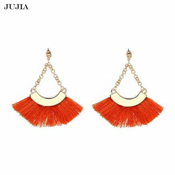 Hot Wedding Jewelry Charm Fringed Dangle Earrings Statement Tassels Drop Earrings For Women Bijoux