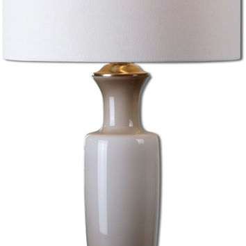 "0-016625>32""h Consuela 1-Light Table Lamp Brushed Nickel"