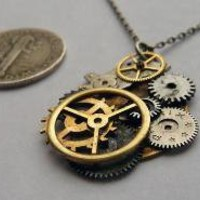 Watch Gear Pendant Five by amechanicalmind on Etsy