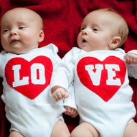 LO-VE Twin Bodysuit Set