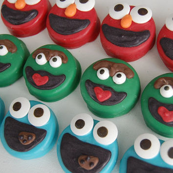 PlainOldeJane ELMO, OSCAR the Grouch and COOKIE Monster Oreos