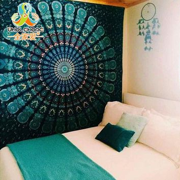 Indian Mandala Tapestry Hippie Wall Hanging Tapestries Boho Bedspread Beach Towel Yoga Mat Blanket Table Cloth 210*150/150*130c