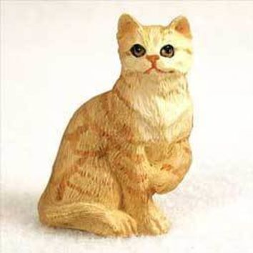RED SHORTHAIRED TABBY CAT TINY ONE FIGURINE