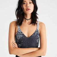 AE Soft & Sexy Velvet Strappy-Back Bodysuit, Blue