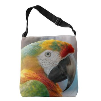 Tropical Macaw Parrot Tote Bag