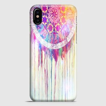 Bmth Sempiternal In Rainbow Watercolor Drop iPhone X Case