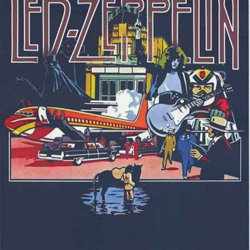 Led Zeppelin Song Remains Pop Art Poster 24x36