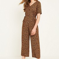 Urban Renewal Vintage Remnants Brown Ditsy Jumpsuit | Urban Outfitters