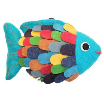 Felted Friend Fish  Stuffed Animal Toy