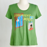 Out of Print Short Sleeves Novel Tee in Goodnight Moon - Plus