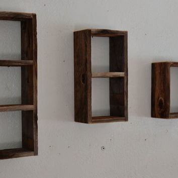 Shabby chic shadow box set barnwood with a beautiful natural weathered patina