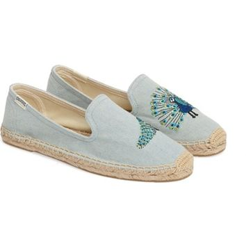Soludos Peacock Smoking Slipper (Women) | Nordstrom