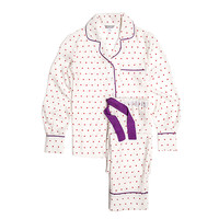 Coco Heart Pajama Set, Purple, Pajamas