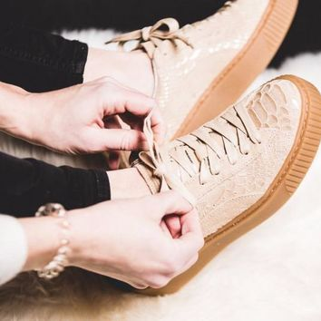 Puma Basket Platform Exotic Skin 'Natural Vachetta-Gold'