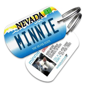 Nevada License Plate Pet Tag