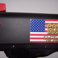 """In GOD we trust"" Mailbox Mate~American Flag~Stars and Stripes~Mailbox Decoratio"