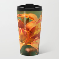 Lilies Come Lately Metal Travel Mug by Theresa Campbell D'August Art