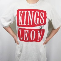 Limited Edition Kings of Leon Tan T-Shirt Tee Mens XL