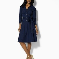 "Lauren by Ralph Lauren Dress ""Rosita"" Cargo Belted Shirt Dress - Dresses - Bloomingdales.com"