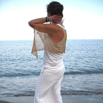 . Extra soft shawl. Summer knitted poncho