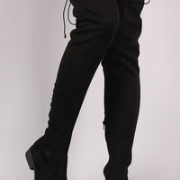 Qupid Slouchy Fitted Over the Knee Boots